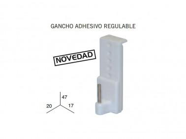 4 GANCHOS ADHESIVOS REGULABLES