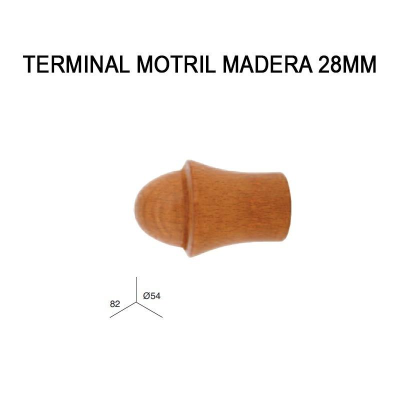 TERMINAL MOTRIL DE MADERA Ø28MM