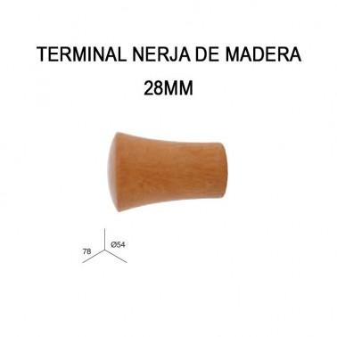 TERMINAL NERJA DE MADERA Ø28MM