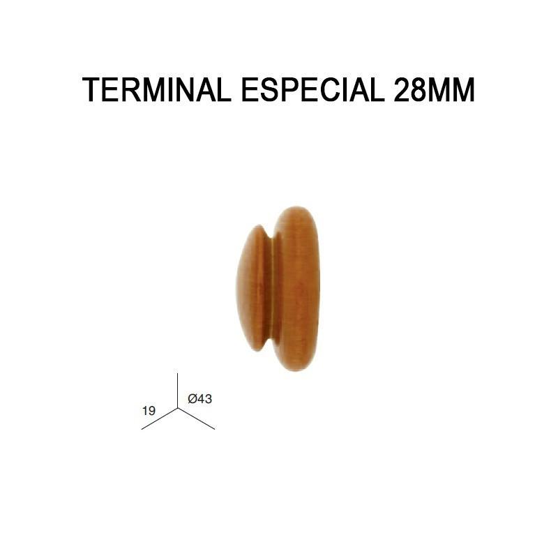 PACK 2 TERMINALES ESPECIAL DE MADERA Ø28MM