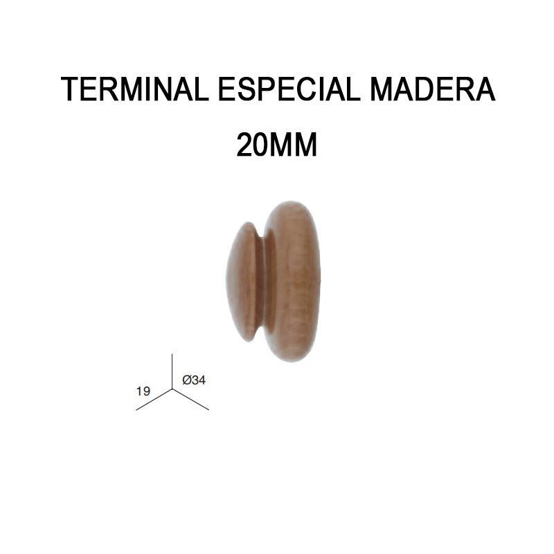 PACK 2 TERMINALES ESPECIAL DE MADERA Ø20MM