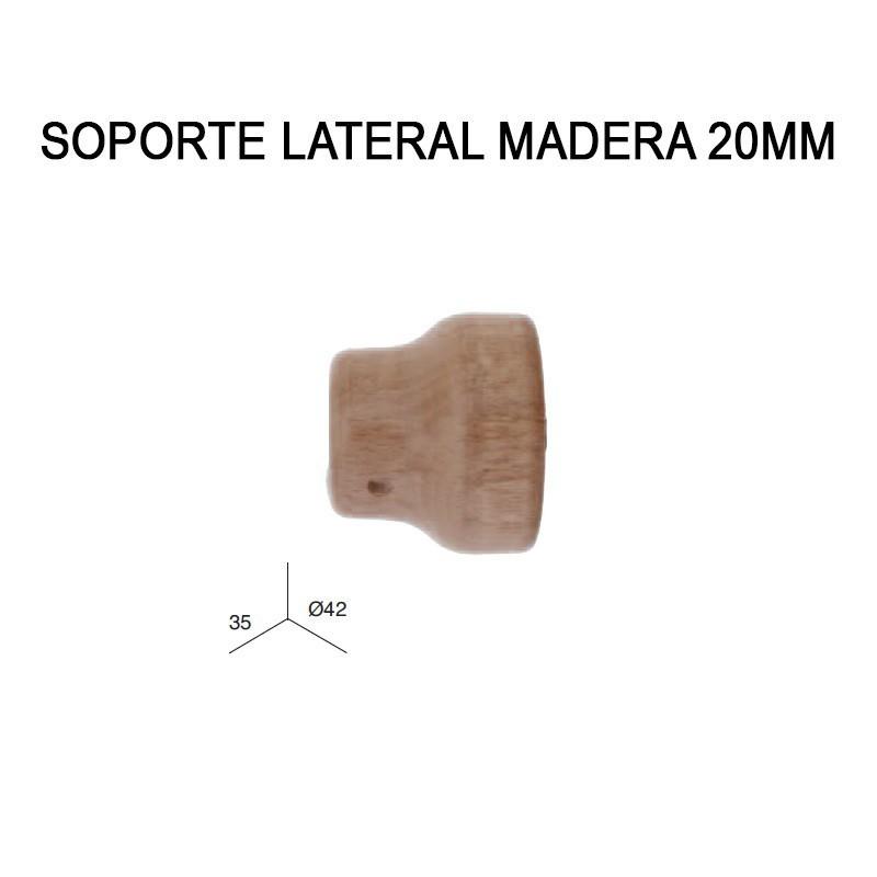SOPORTE LATERAL DE MADERA Ø20MM