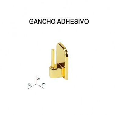PACK DE 4 GANCHOS ADHESIVOS METALIZADOS