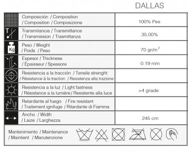 ESTOR ENROLLABLE NOCHE Y DÍA DALLAS 16 - A